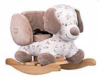 Детское деревянное кресло-качалка Nattou песик Макс 777346 белый