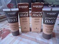 Тональная основа для лица Deborah Comfort Mat  2 цвета