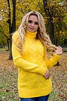 Свитер женский под горло Marko1556 желтый, фото 1