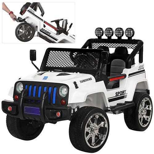 Детский электромобиль джип Sport M 3237EBLR-1 белый