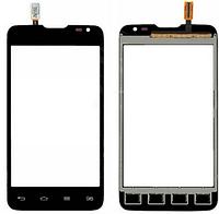 Тачскрин (сенсор) LG D280 Optimus L65, цвет черный, на 2 sim карты