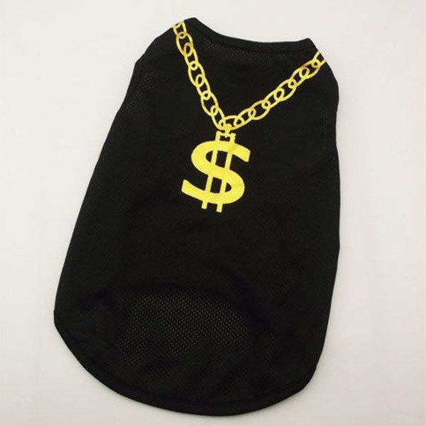 Одежда жилетка для собаки Золотой доллар