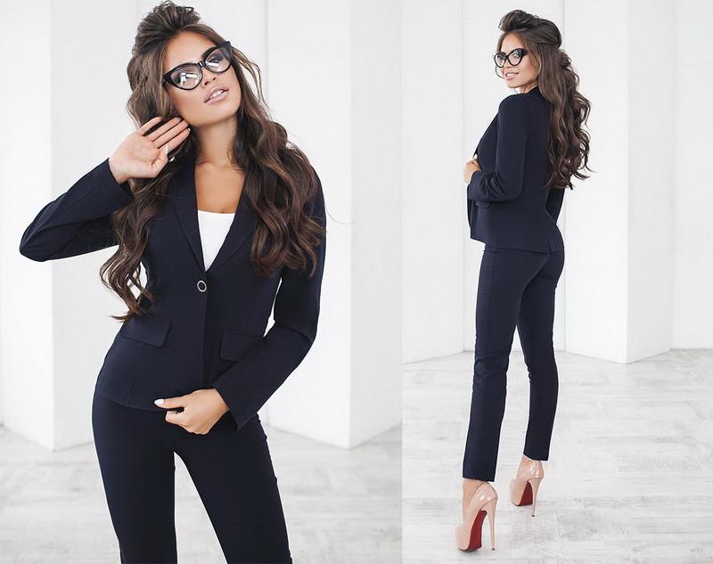 b25245e32b8 Классический деловой женский брючный костюм тройка +цвета  продажа ...