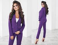 Классический деловой женский брючный костюм тройка  +цвета