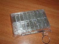 Набор винтов часовых гайки шайбы втулки + часовая отвертка(М1, М2, М2.5, М3) 1000 шт крепеж метизы ремонт очко