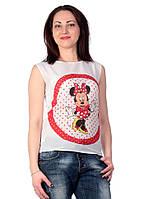 Летняя майка с принтом Микки Маус 2032