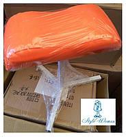 Тринога для педикюру з шкірозамінника оранж