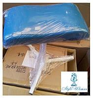 Тринога для педикюру з шкірозамінника яскраво синя