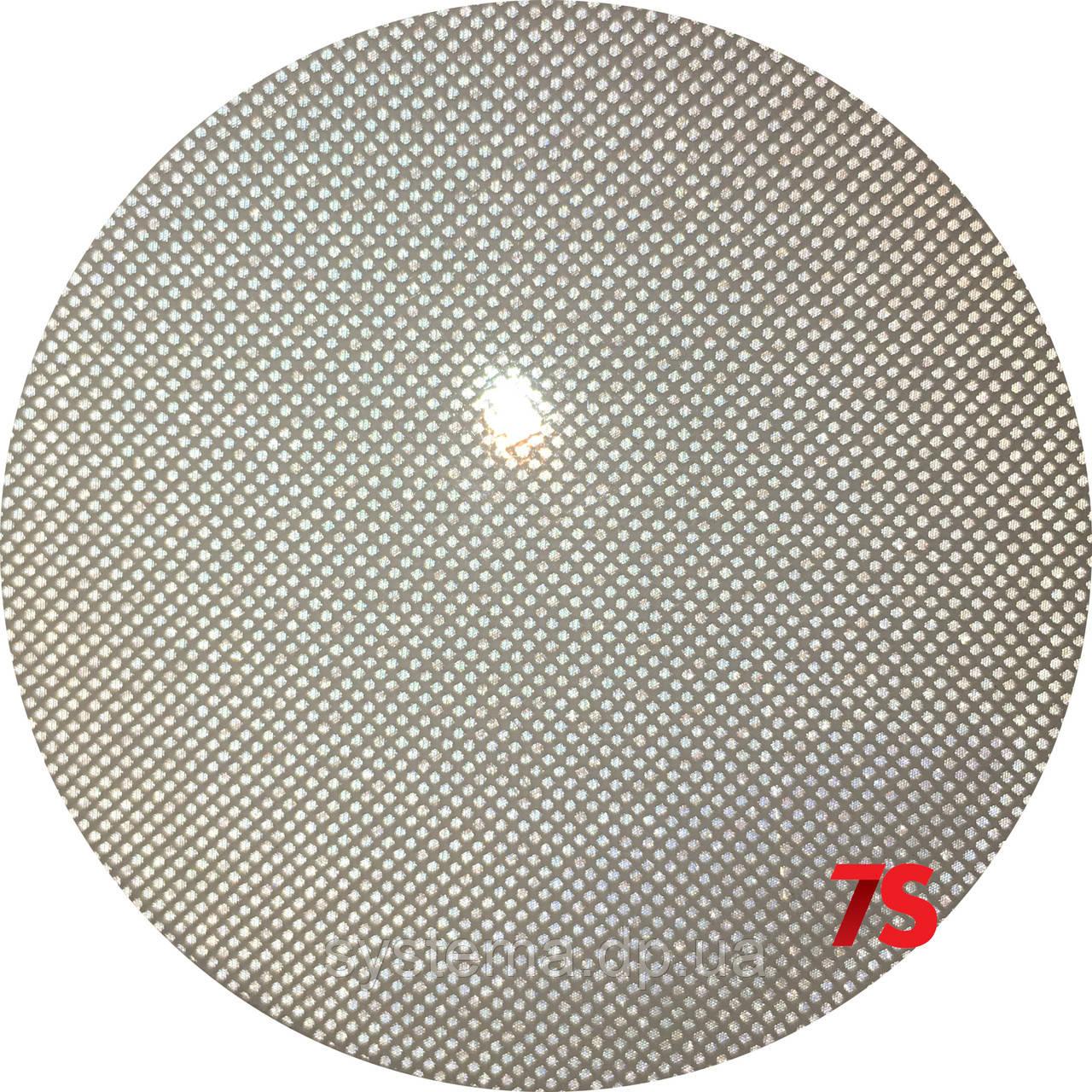 Катафот (отражатель) с оптической системой из микропризм на самоклейке круглый, белый