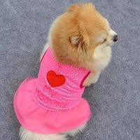 Розовое платье для собачки девочки
