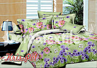 Постельное бельё полуторное 150*220 хлопок (5172) TM KRISPOL Украина