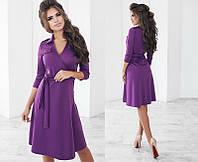 Красивое женское платье-халат с запахом с рукавом три четверти   +цвета