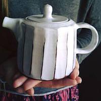 """Чайник заварочный TJ ceramics """"Faceted"""" в ассортименте"""