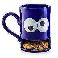 """Чашка Donkey """"Monster Cookie Cup Blue"""" с отделением для печенья"""