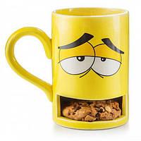 """Чашка Donkey """"Monster Cookie Cup Yellow"""" с отделением для печенья"""