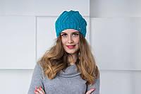 Женская вязаная шапка, фото 1