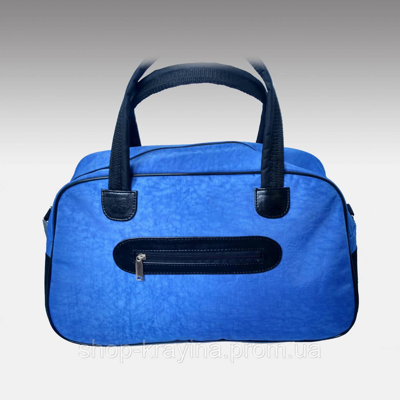 Женская сумка для спорта, 26*46*18 см, синяя