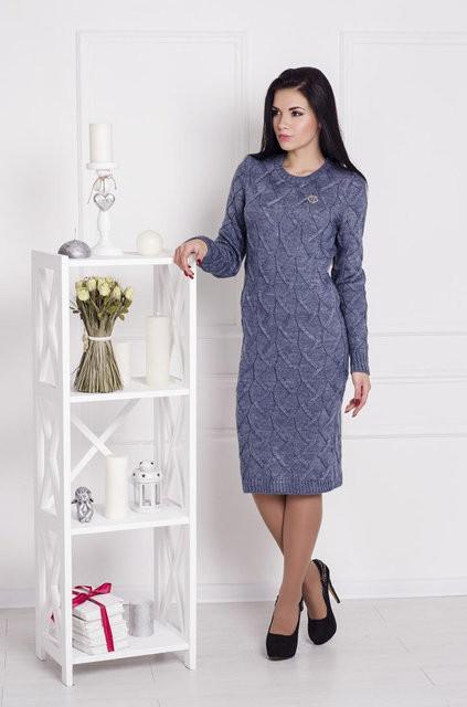 Платье вязаное Зигзаг , фото 1