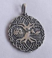 Древо Жизни с чернением медальон