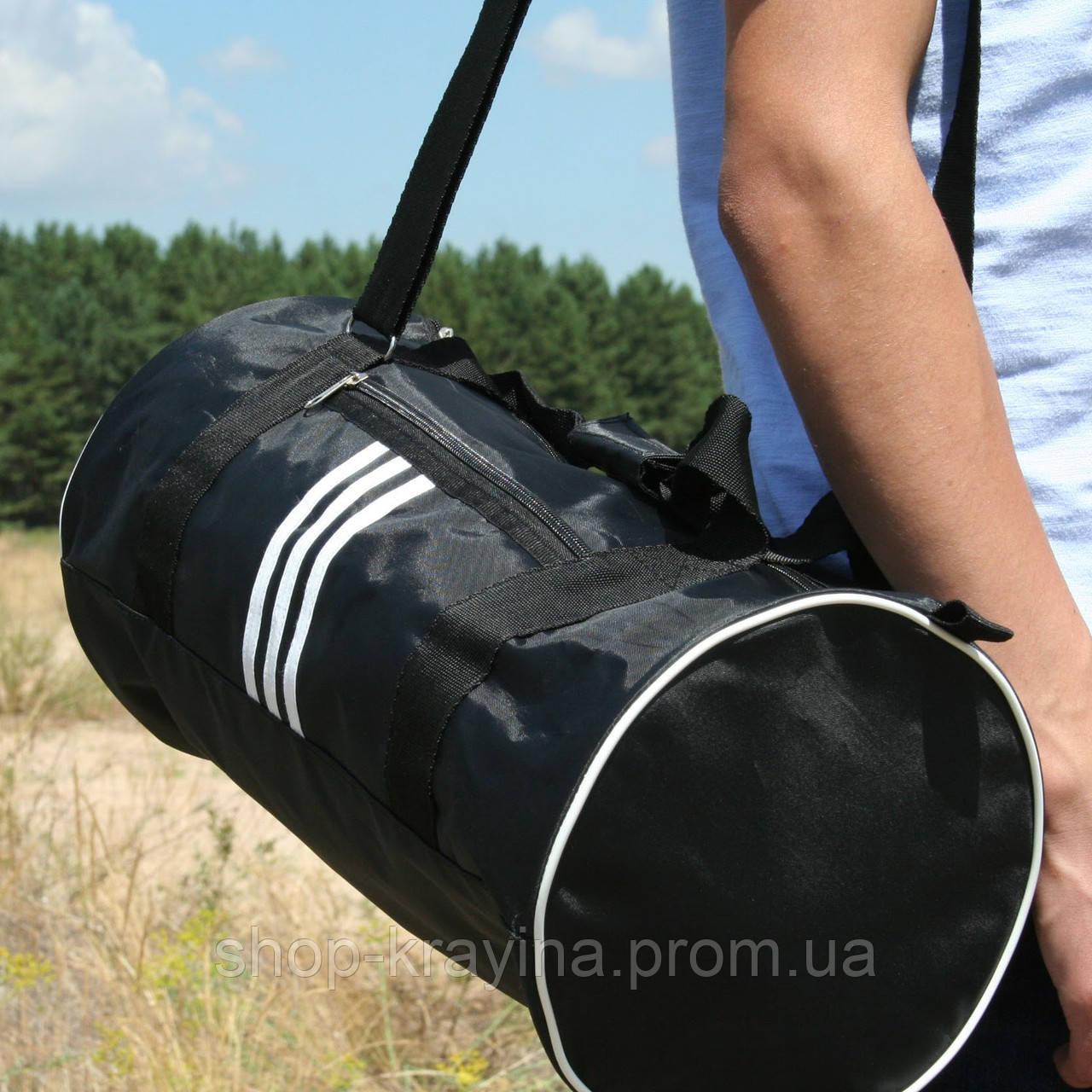 Сумка для спорту унісекс, 21*45*21 см, черн