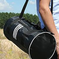 Сумка для спорта унисекс, 21*45*21 см, черн