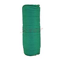 Шнур нейлоновый 4 мм Паракорд зеленый