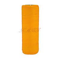 Шнур нейлоновый 4 мм Паракорд желтый