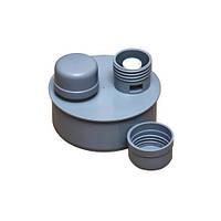 Клапан воздушный Ø 110 ПП Инсталпласт для внутренней канализации, серый