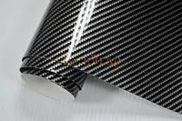 Карбоновая пленка 2D черная под лаком 152см