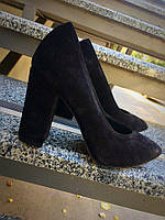 Женские туфли Olimpia №2 из натуральной замши, черного цвета
