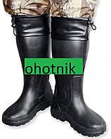 Зимние сапоги ЭВА - Рыбак СЭ01с меховым чулком и манжетом.Р.42-43. Цвет Черный.