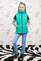 Модный утепленный жилет для девочки Микс
