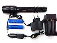 Тактический Bailong BL-2804 T6, ударопрочный, влагостойкий, акамулятор, мощный яркий фонарь