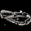 Фонарь для охоты CREE BL-Q2800-T6 50000W, выносная кнопка, крепление на ствол, светофильтры
