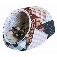 Домик для собак и кошек Patchwork 47x40x28см