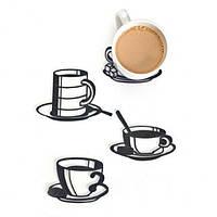 "Набор подставок под чашки Peleg Design ""Sketch Coasters"" 4 шт"