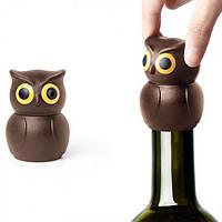 """Стоппер Qualy """"Owl Wine Stopper Brown"""" для бутылок"""