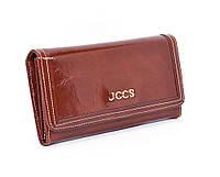 Кошелек женский кожаный коричневый JCCS 3053, фото 1