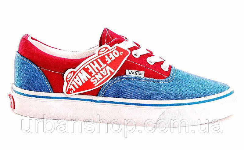 Кеди Vans  New Era Red/Blue