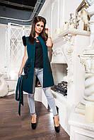 Модный кашемировый длинный жилет