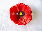 Квітка мака червоного 10см, фото 2