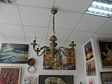 Бронзова Люстра (6 плафонів-свічок), фото 2