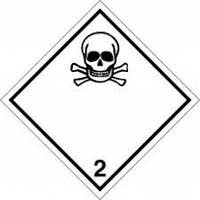 """Наклейка  Класс опасности """"2.3. Токсичные газы"""""""