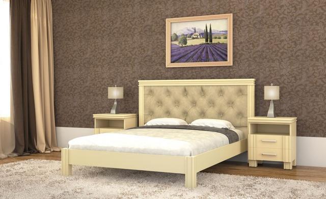 Кровать Маргарита беж