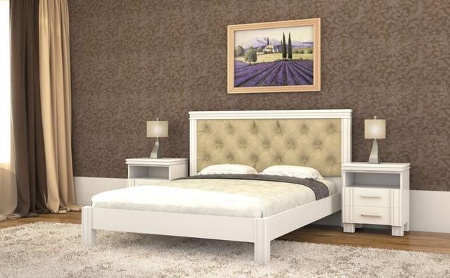 Кровать Маргарита белая
