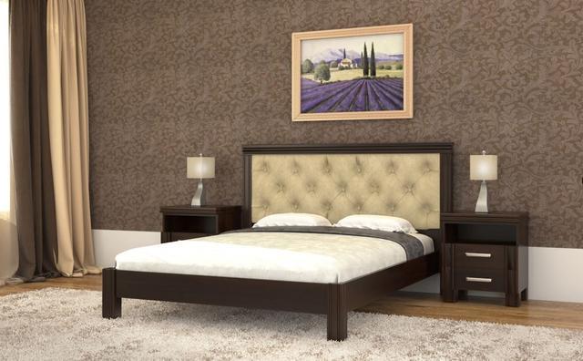 Кровать Маргарита орех темный