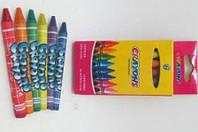 Мелки восковые 6 цв 4236 Crayons