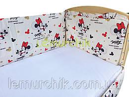 """Защита для детской кроватки 120х60 см, """"Микки Маус"""""""