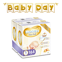 Подгузники Huggies Elite Soft Newborn 1 (до 5 кг), 164 шт.