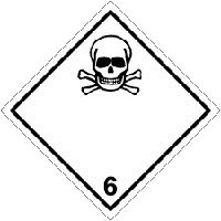 """Наклейка  Класс опасности """"6.1. Токсичные вещества"""""""